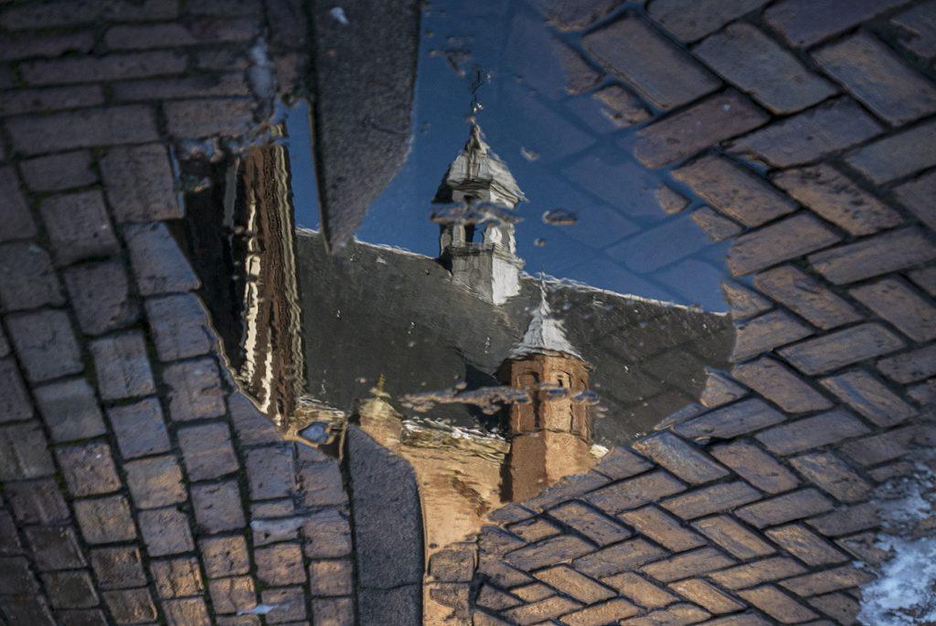 reflectie van de montelbaantoren